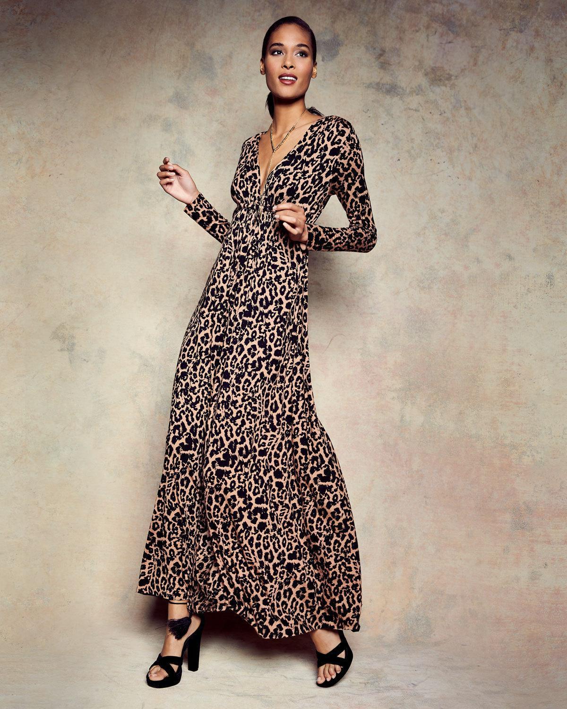Lyst - Rachel Pally Leopard-print Long Caftan Maxi Dress 5ae17ca29