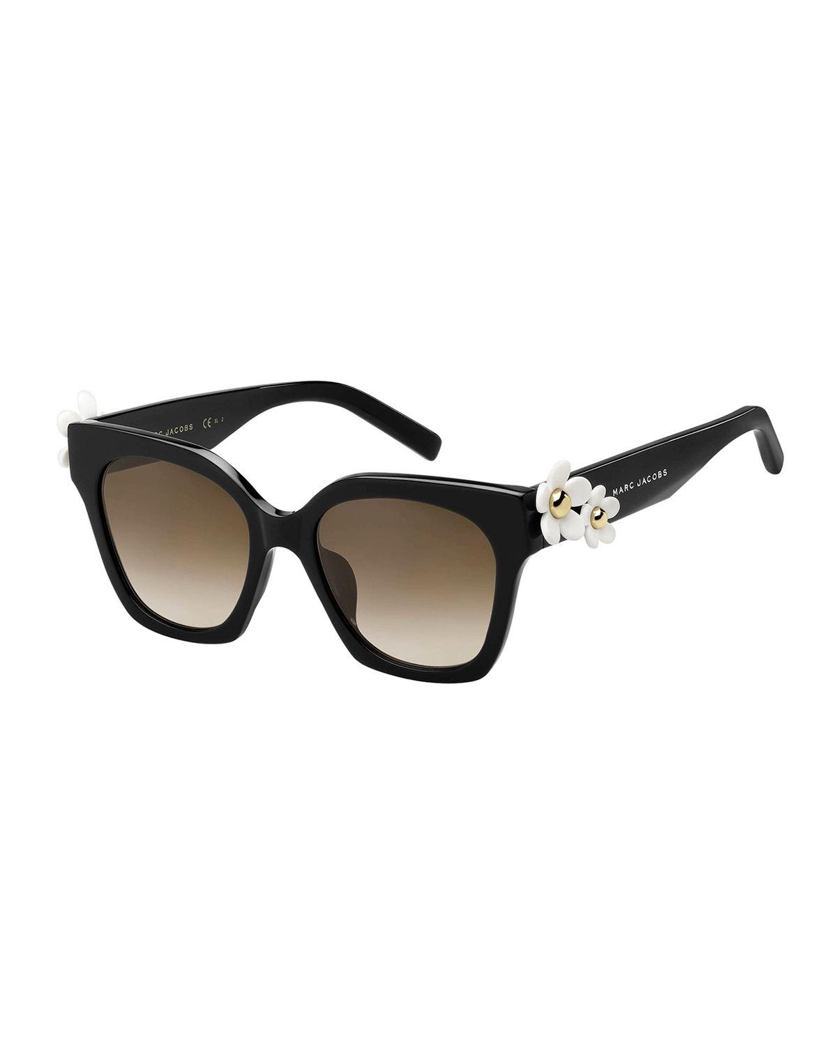 1e1298f34f94 Marc Jacobs - Black Square Acetate Daisy Sunglasses - Lyst. View fullscreen