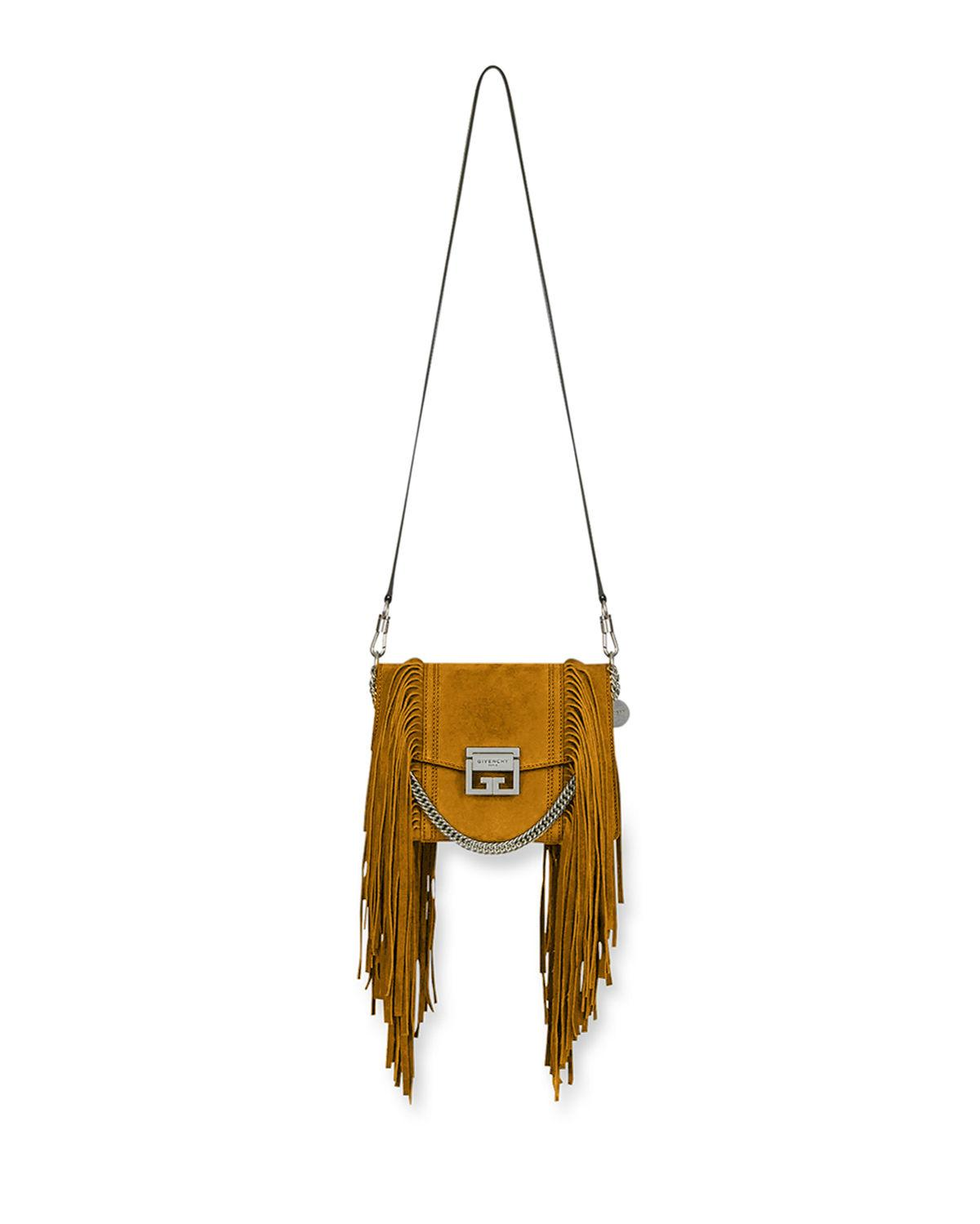 c68a952127 Lyst - Givenchy Gv3 Small Fringe Shoulder Bag in Metallic - Save 35%