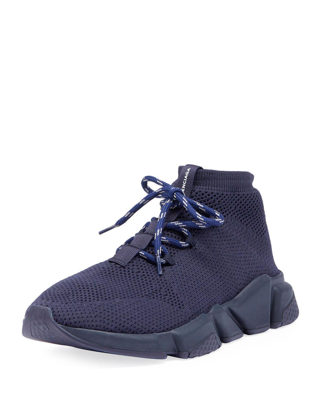 e601d73a23df0 Lyst - Balenciaga Men s Speed Mesh Sneakers in Blue for Men - Save 3%
