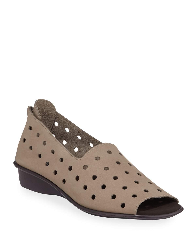Sesto Meucci Edwina Perforated Demi-wedge Sandals In Brown