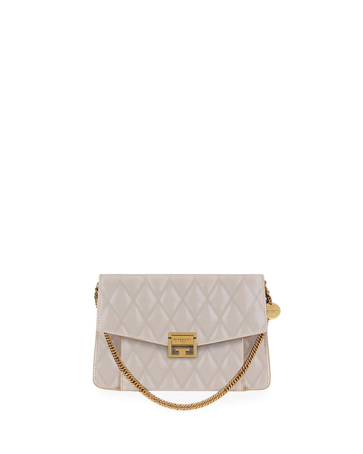 Givenchy - Natural Medium Gv3 Quilted Leather Shoulder Bag - Lyst. View  fullscreen 48ee0fa27f