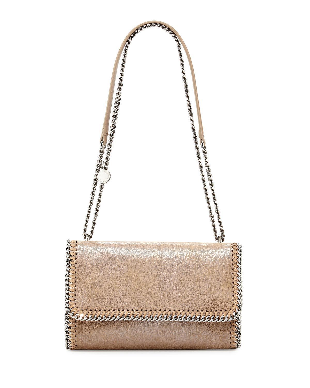 0407f4dfd743 Lyst - Stella McCartney Falabella Shiny Chain-trim Crossbody Bag in Pink