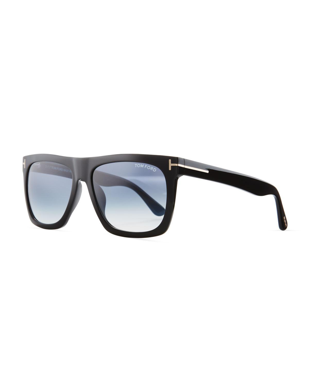 52f7b58eb4f Lyst - Tom Ford Morgan Thick Square Acetate Sunglasses Black in Blue ...
