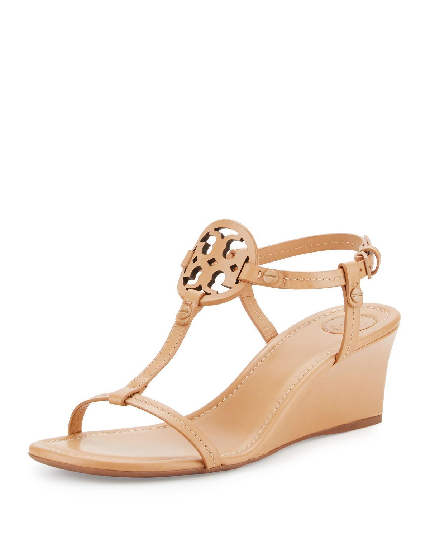 6622f95f70fa Tory Burch. Women s Miller Logo 60mm Wedge Sandals