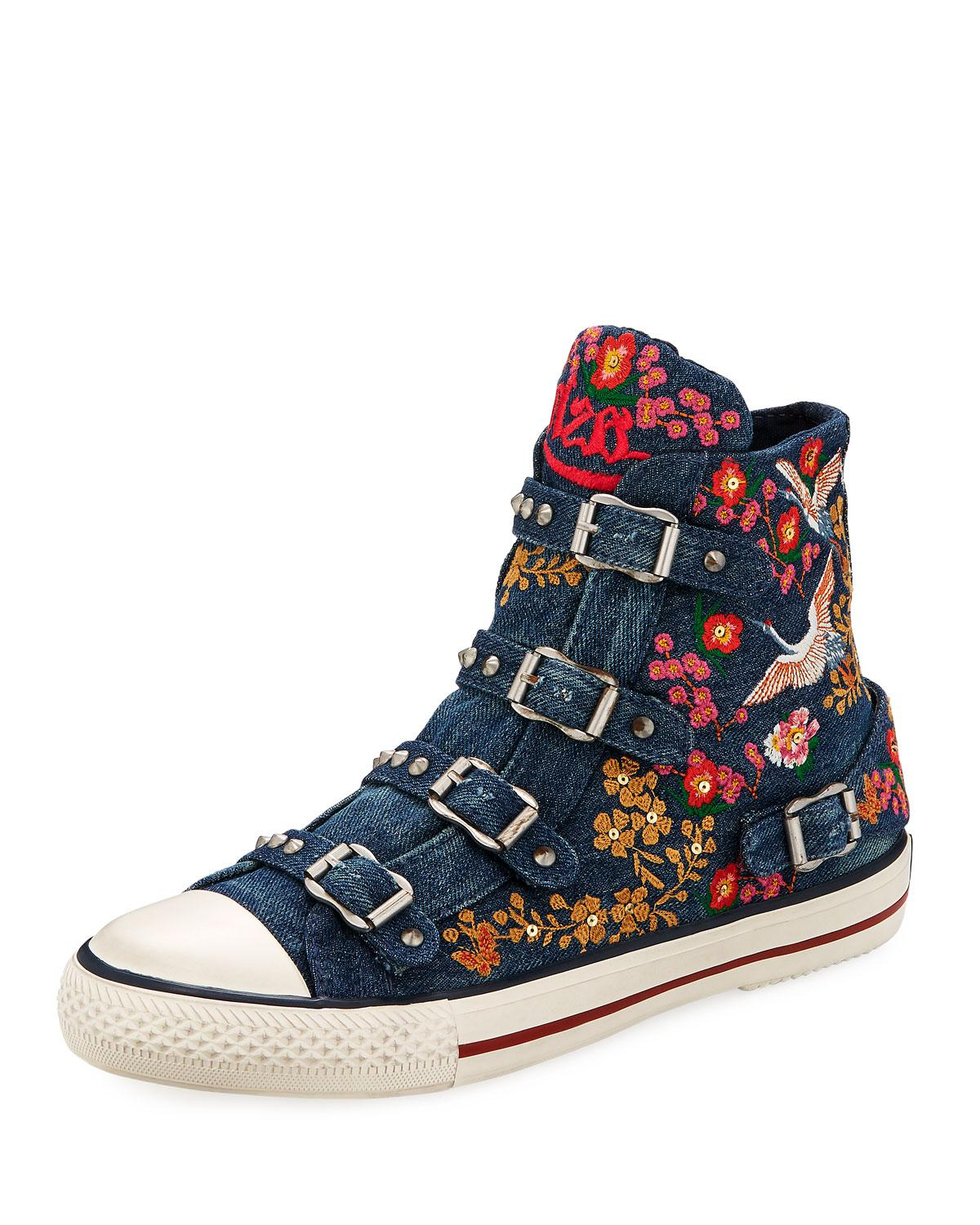 Ash Vivi Embroidered Buckle Hi-Top Sneaker 8RLoMpJ4