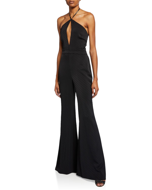 7c58856ecd67 Alexis. Women s Black Naila Wide-leg Halter Jumpsuit.  524  393 From Neiman  Marcus