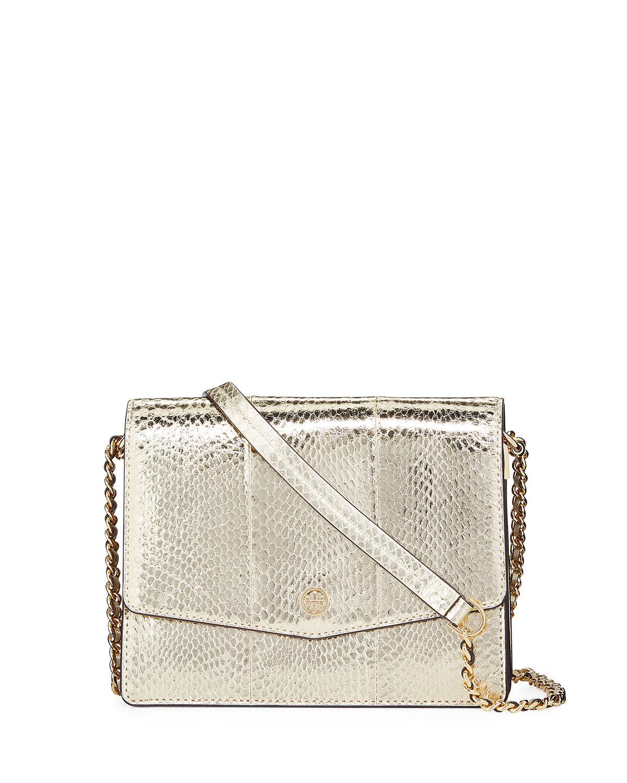 c7f2be63079d9 Tory Burch. Women s Robinson Convertible Exotic Shoulder Bag