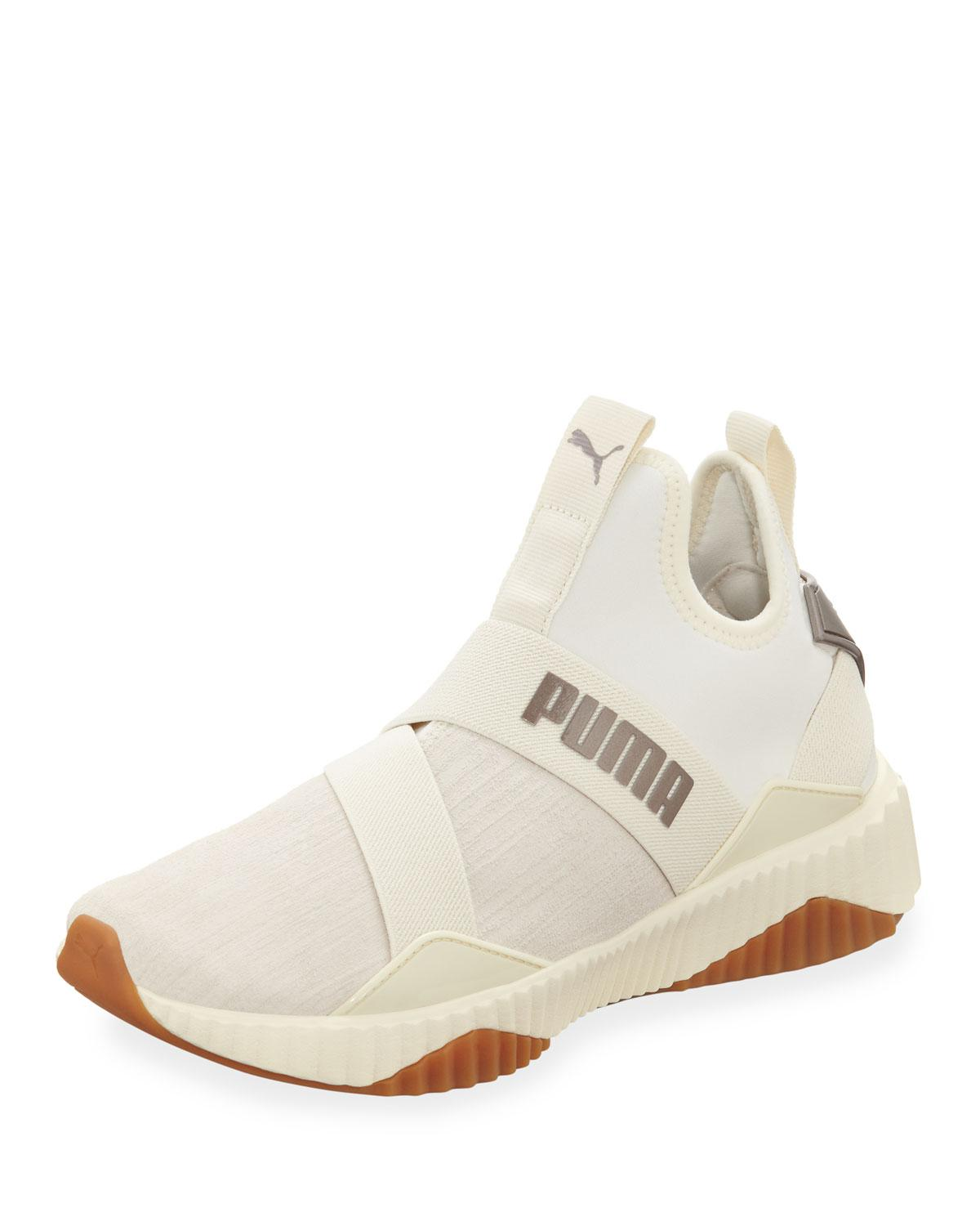 6b980a6e74bf Lyst - PUMA Defy Mid Luxe Chunky Sneakers in White for Men