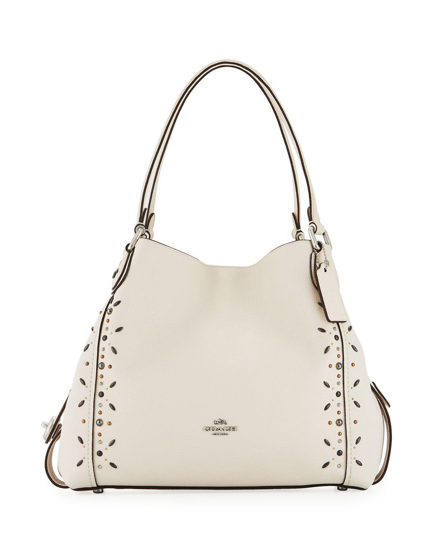 00d6201f61d49 ... coupon code for lyst coach edie 31 prairie rivet detail shoulder bag in  white d4aab 4c271