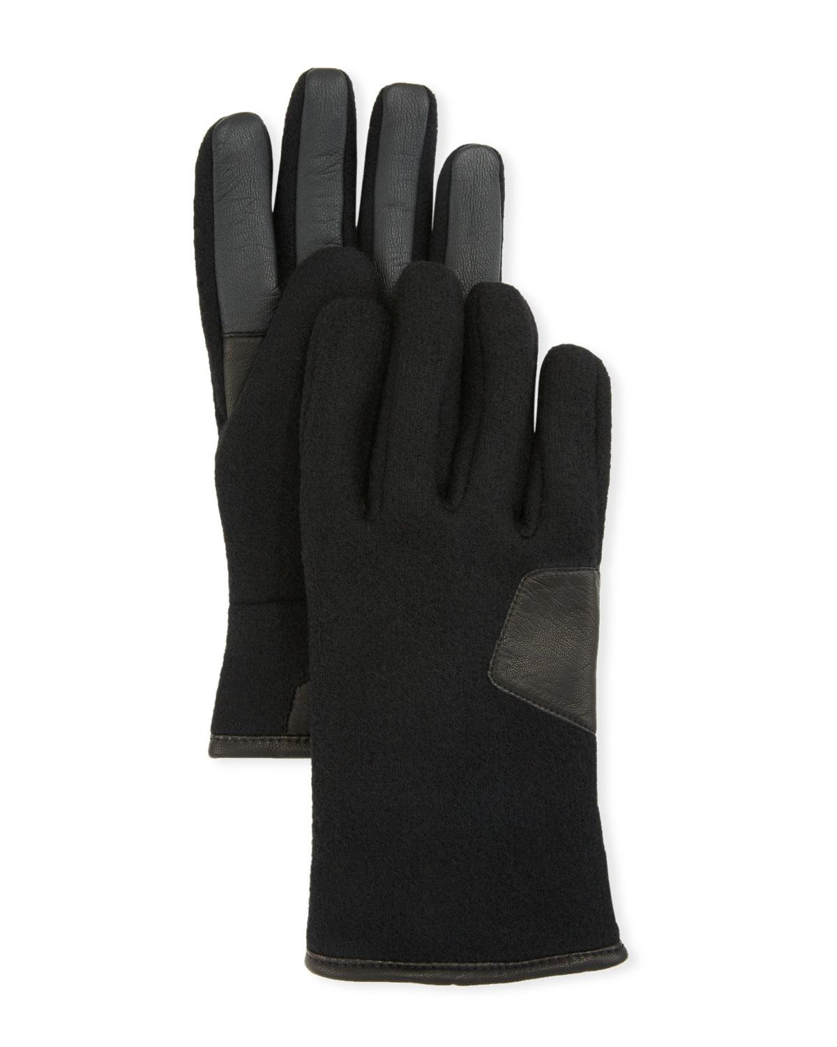 ca2901c62f958 Lyst - UGG Men's Fabric & Leather Touchscreen Gloves in Black for Men