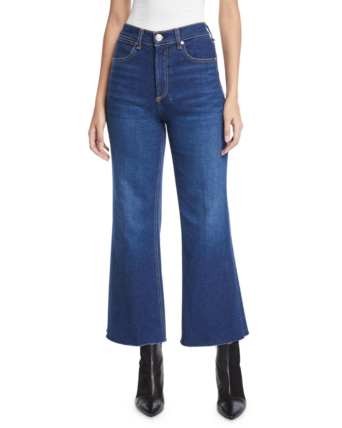 3aed206735480 Lyst - Rag   Bone Justine High-rise Cropped Flare-leg Jeans in Blue