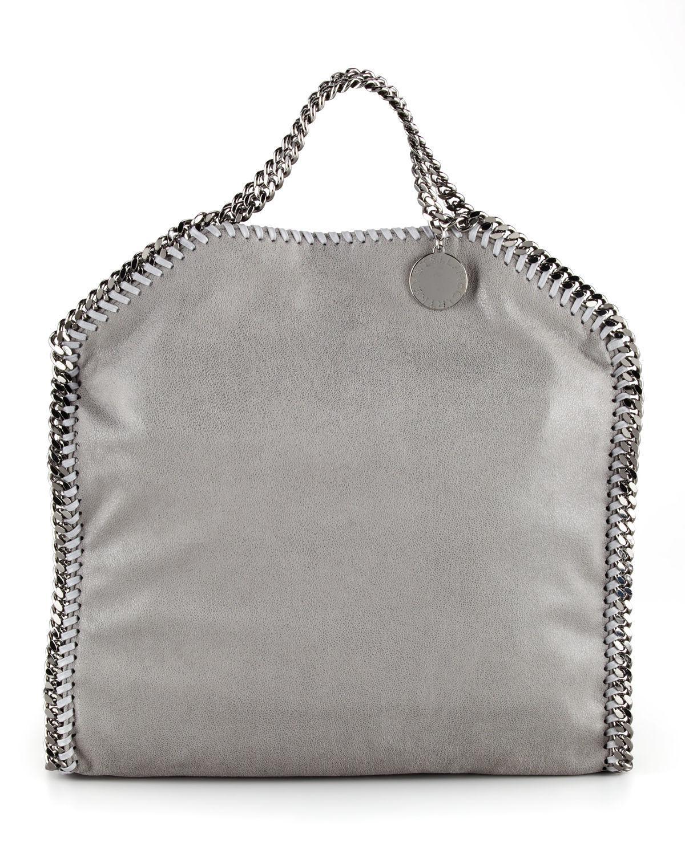 eb2de603f386 Lyst - Stella McCartney Falabella Fold-over Tote Bag in Gray
