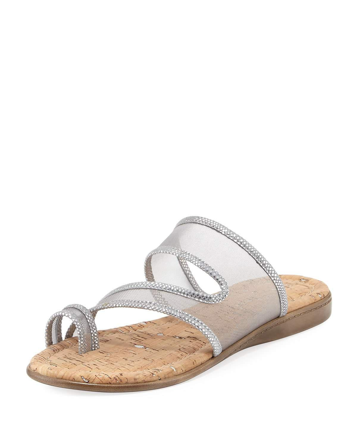 Donald J Pliner Mesh Slide Sandals