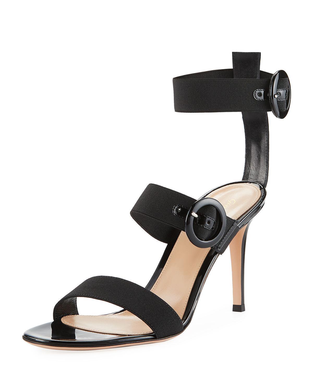 Elastic-strap suede sandals Gianvito Rossi 6k3AmahPct