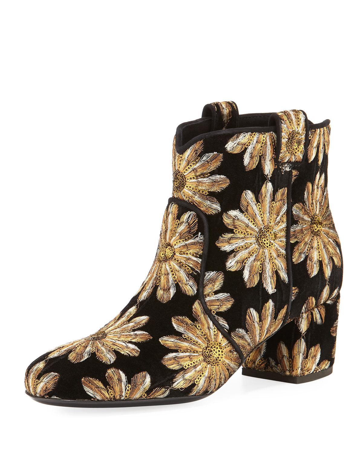 LAURENCE DACADE Sequin embellished boots