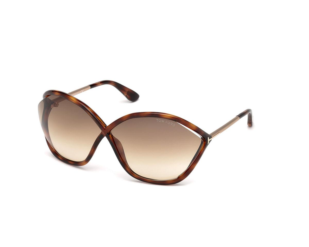 600c00302276 Lyst - Tom Ford Bella Oversized Open-inset Sunglasses in Brown