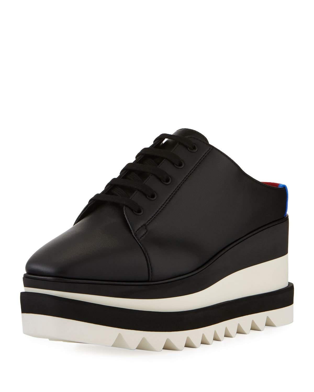 beec6b89e23c3 Lyst - Stella McCartney Sneakelyse Platform Slide Sneakers in Black ...