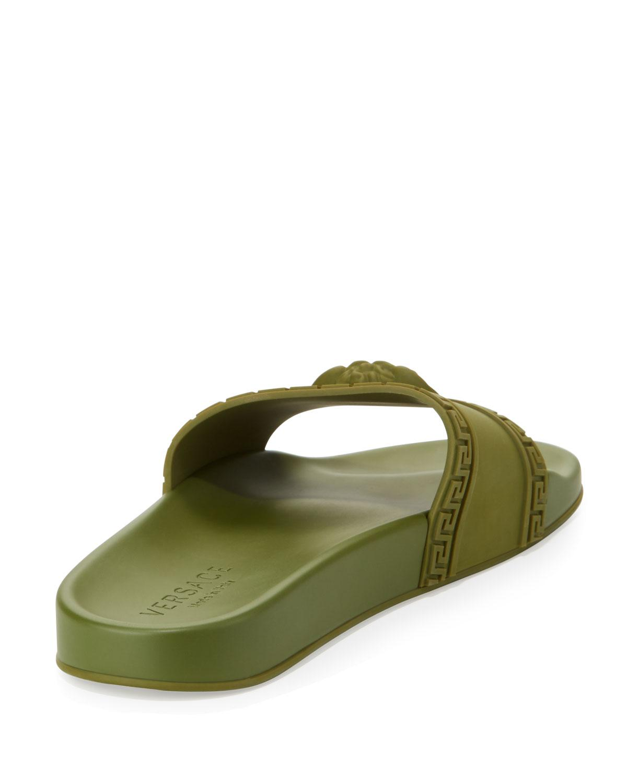 f6a09b14b8a2 Lyst - Versace Men s Medusa   Greek Key Shower Slide Sandal in ...