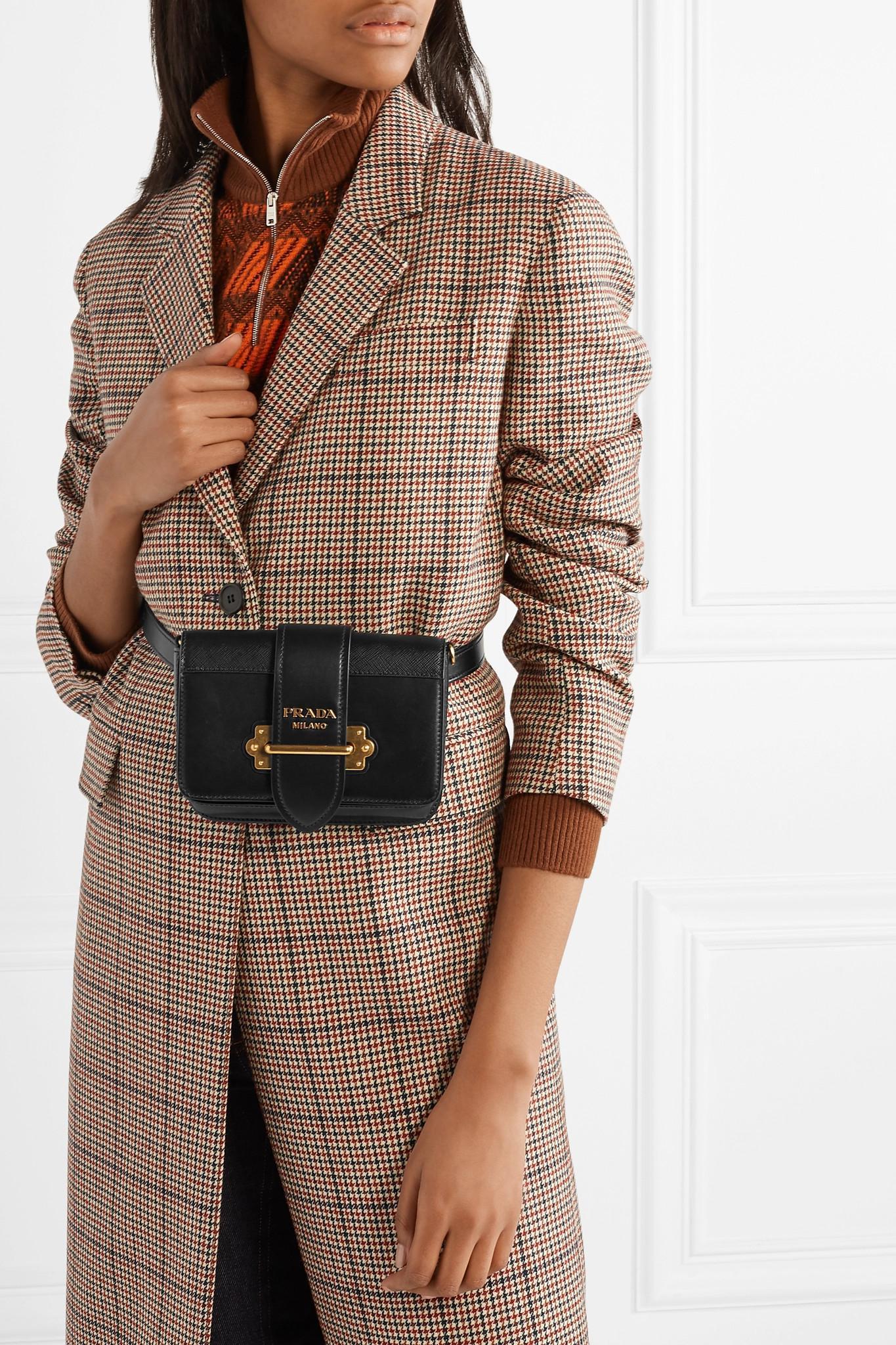 Prada - Black Cahier Leather Belt Bag - Lyst. View fullscreen 79daab4cc4906