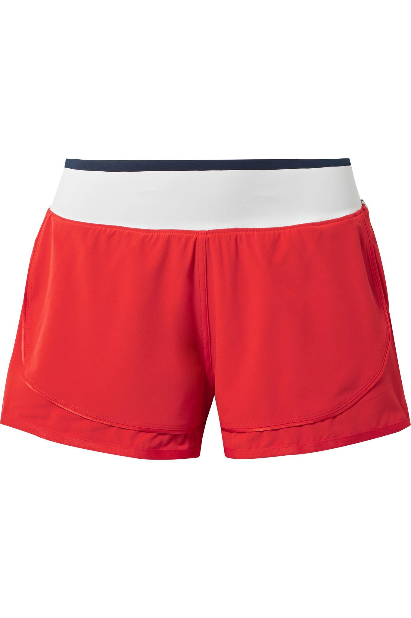 Websites Cheap For Sale Climastorm Hiit Striped Layered Stretch Shorts - Light blue adidas by Stella McCartney Outlet Latest NVhii