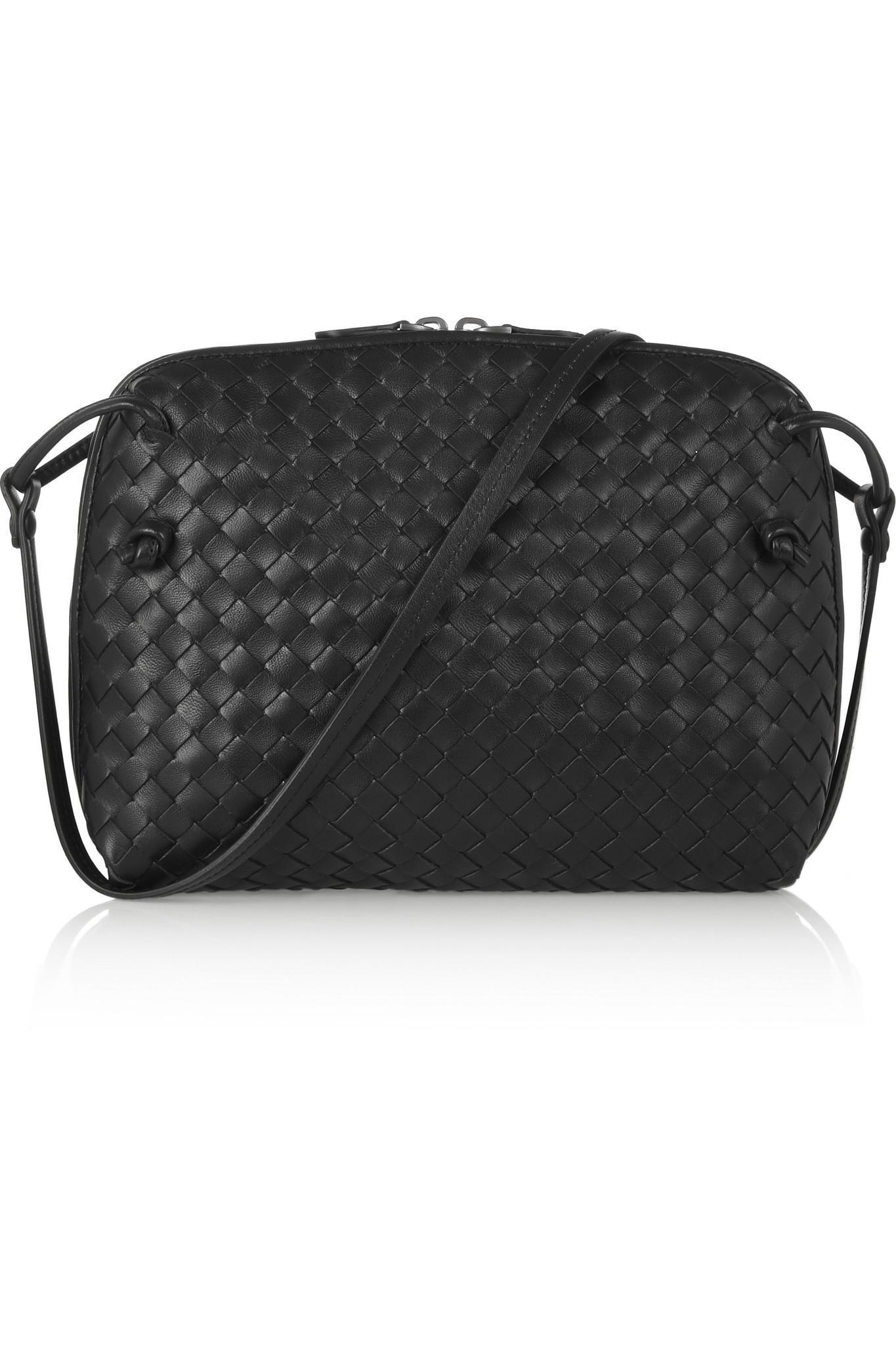 945741888d Bottega Veneta. Women s Black Nodini Small Intrecciato Leather Shoulder Bag