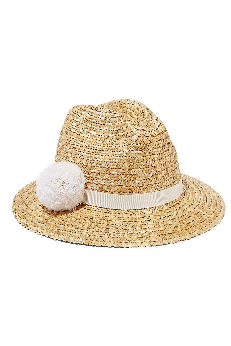 54f544d7a18e5 Lyst - Eugenia Kim Lillian Feather-embellished Straw Fedora in Natural