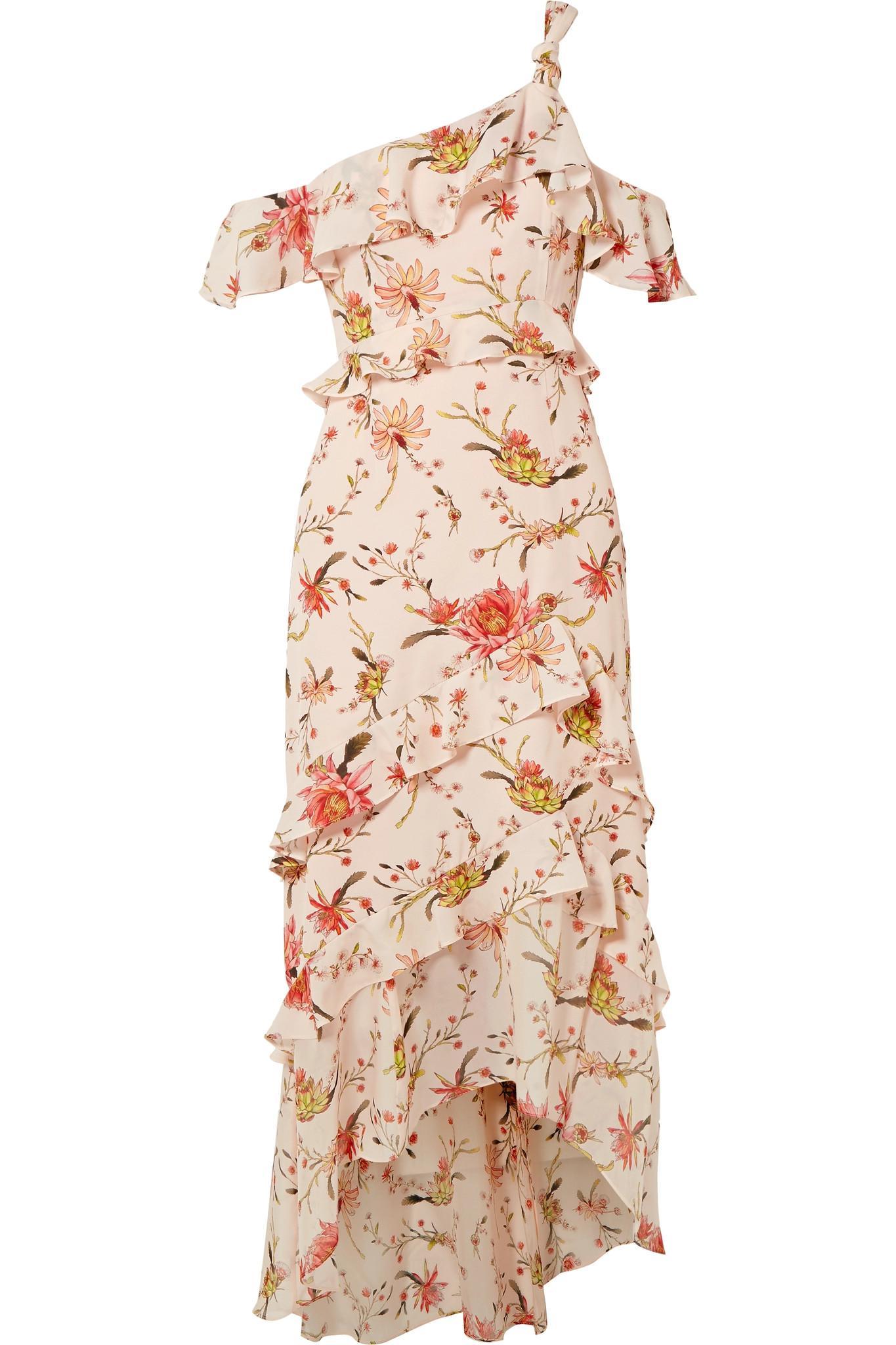Rachel Zoe Woman One-shoulder Printed Silk-georgette Mini Dress Pink Size 4 Rachel Zoe l3wHWBdU