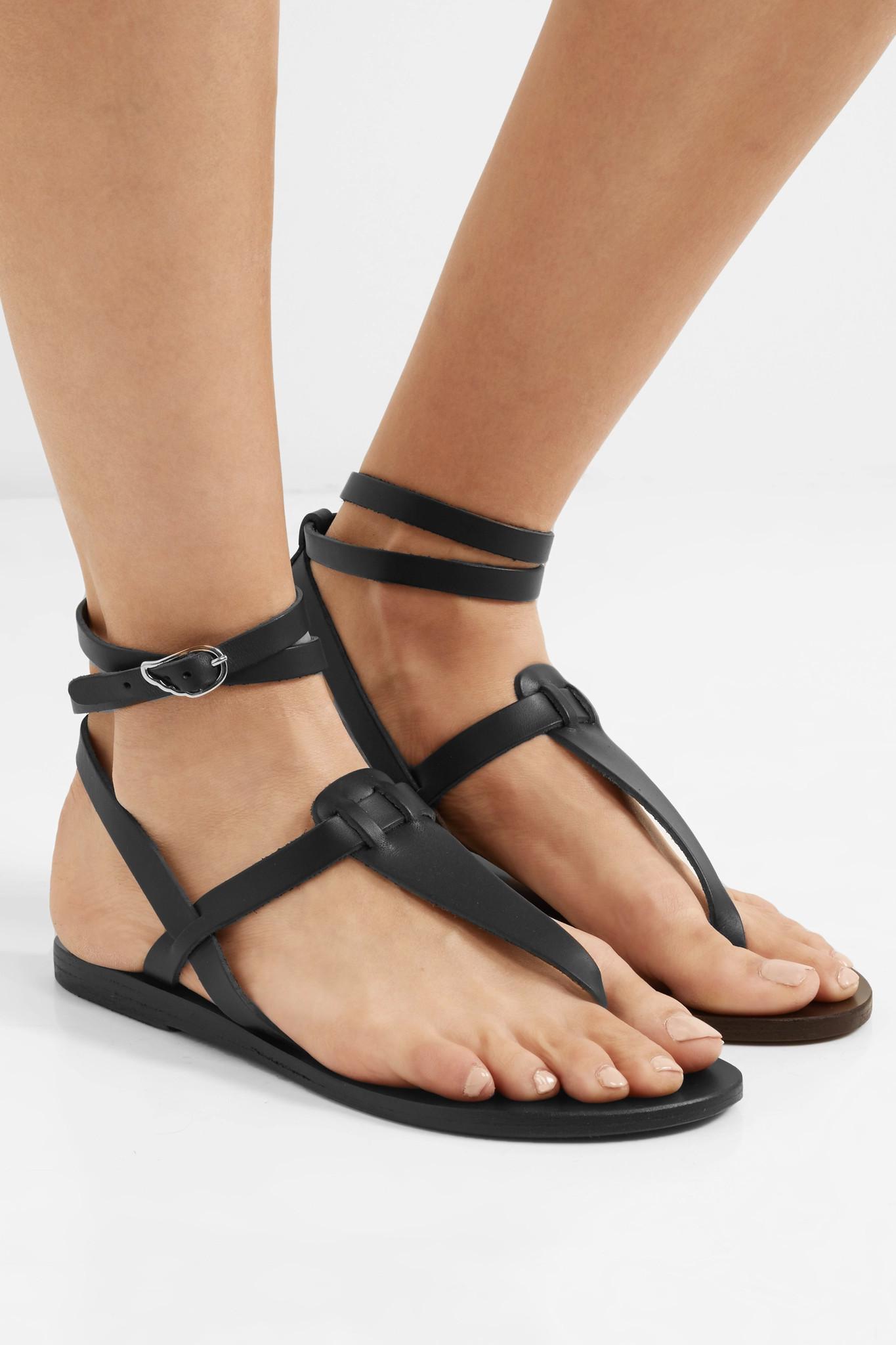 71d4dc3d4bbd8b Ancient Greek Sandals - Black Estia Leather Sandals - Lyst. View fullscreen