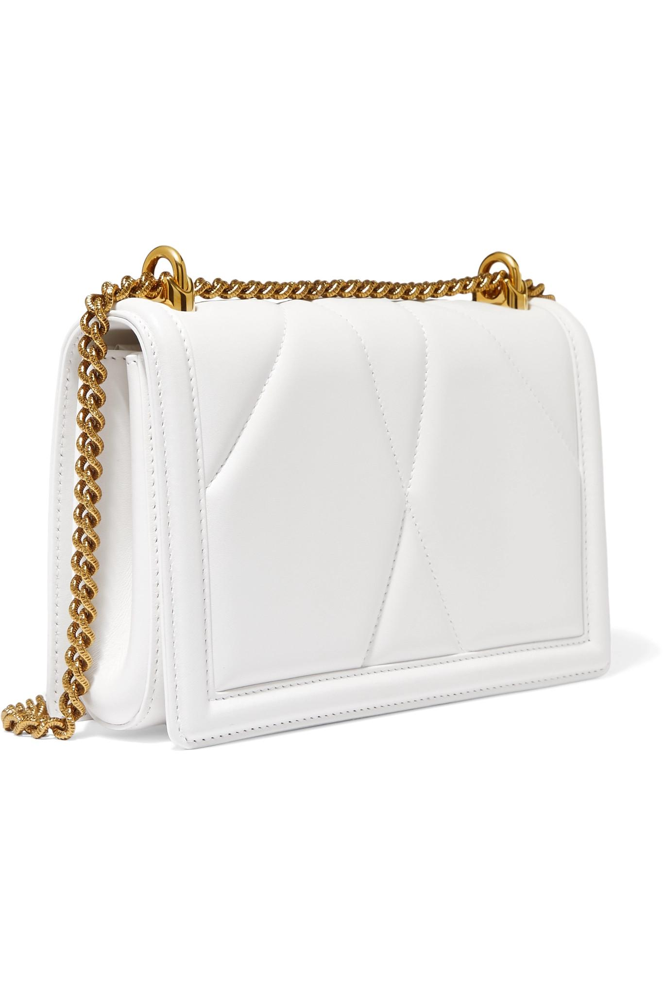 Lyst - Dolce   Gabbana Devotion Mini Embellished Quilted Leather ... 7bee05e779db5