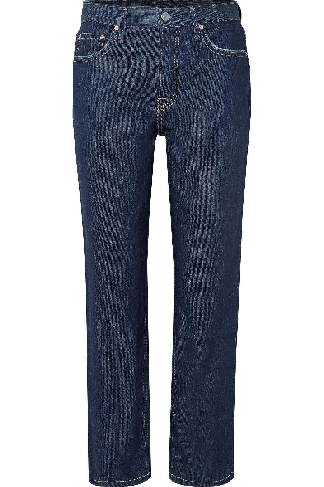 2e7e5dec1096 Lyst - GRLFRND Helena High-rise Straight-leg Jeans in Blue