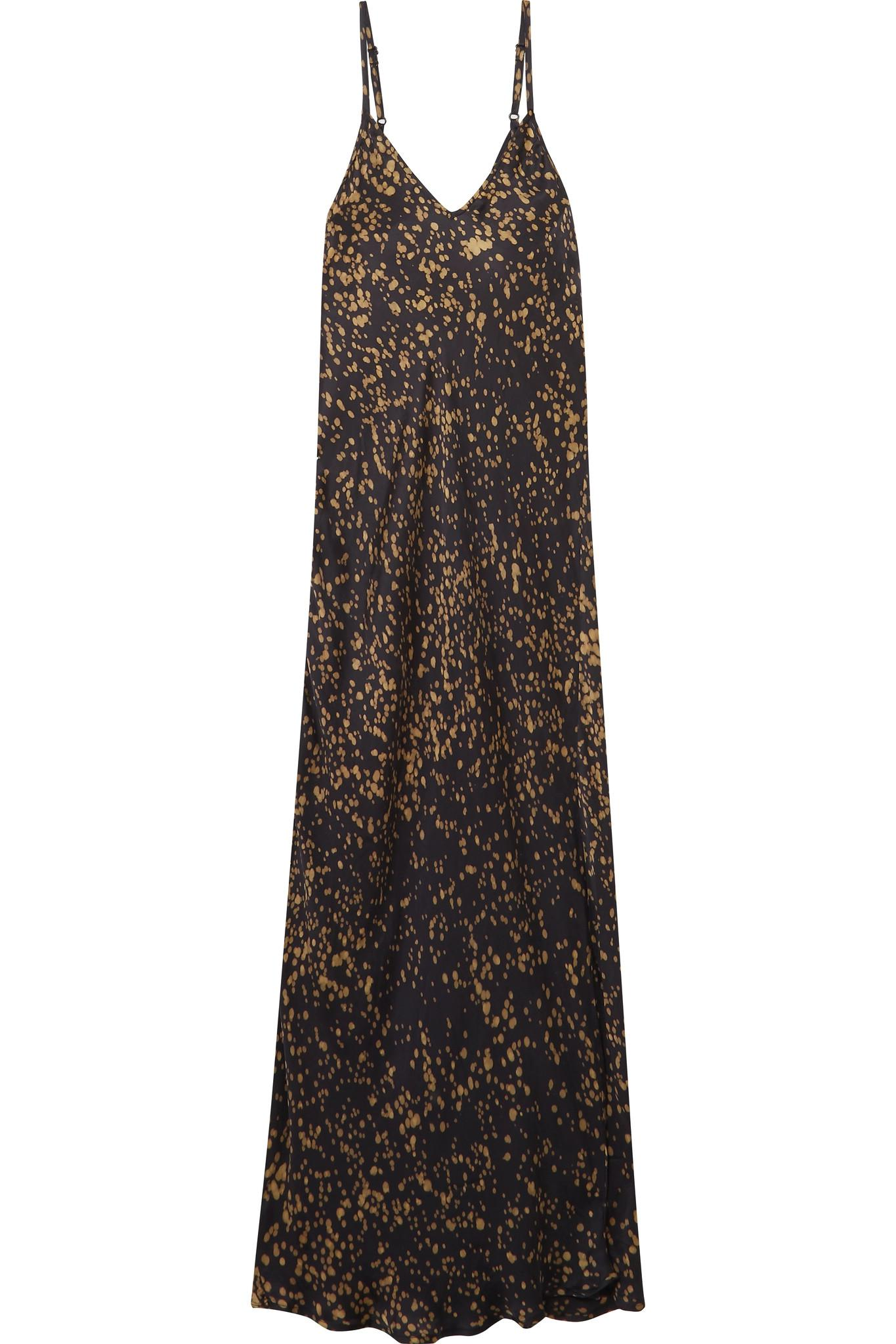 Grenelle Printed Satin Dress - Black Mes Demoiselles... YLo5eI