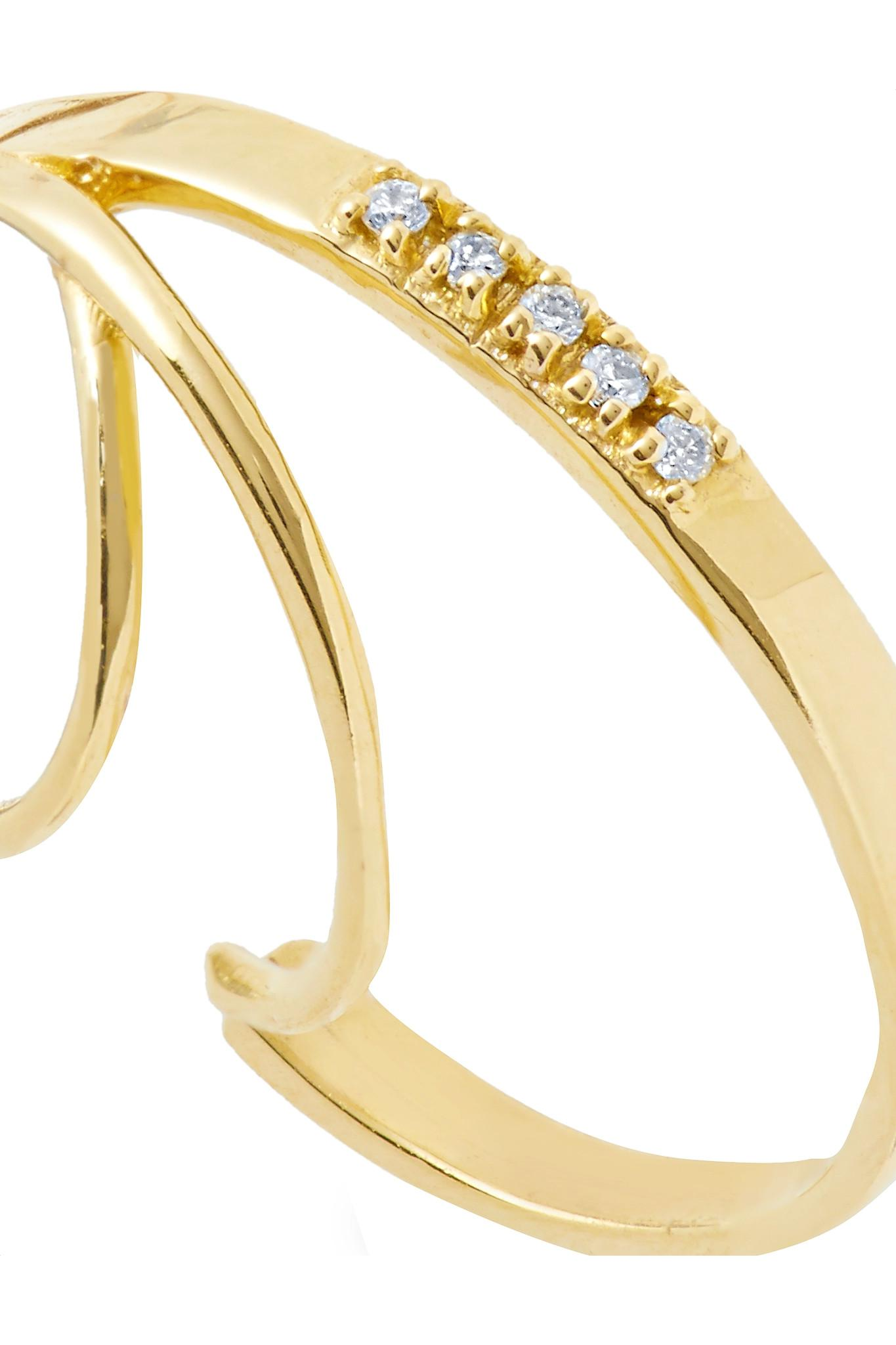 Sansoeurs 18-karat White Gold Diamond Earring 3lczbycW