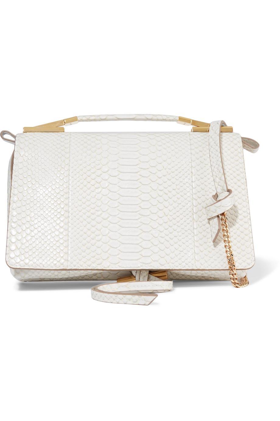 Flo Python-effect Faux Leather Shoulder Bag - Black Stella McCartney gwvwD