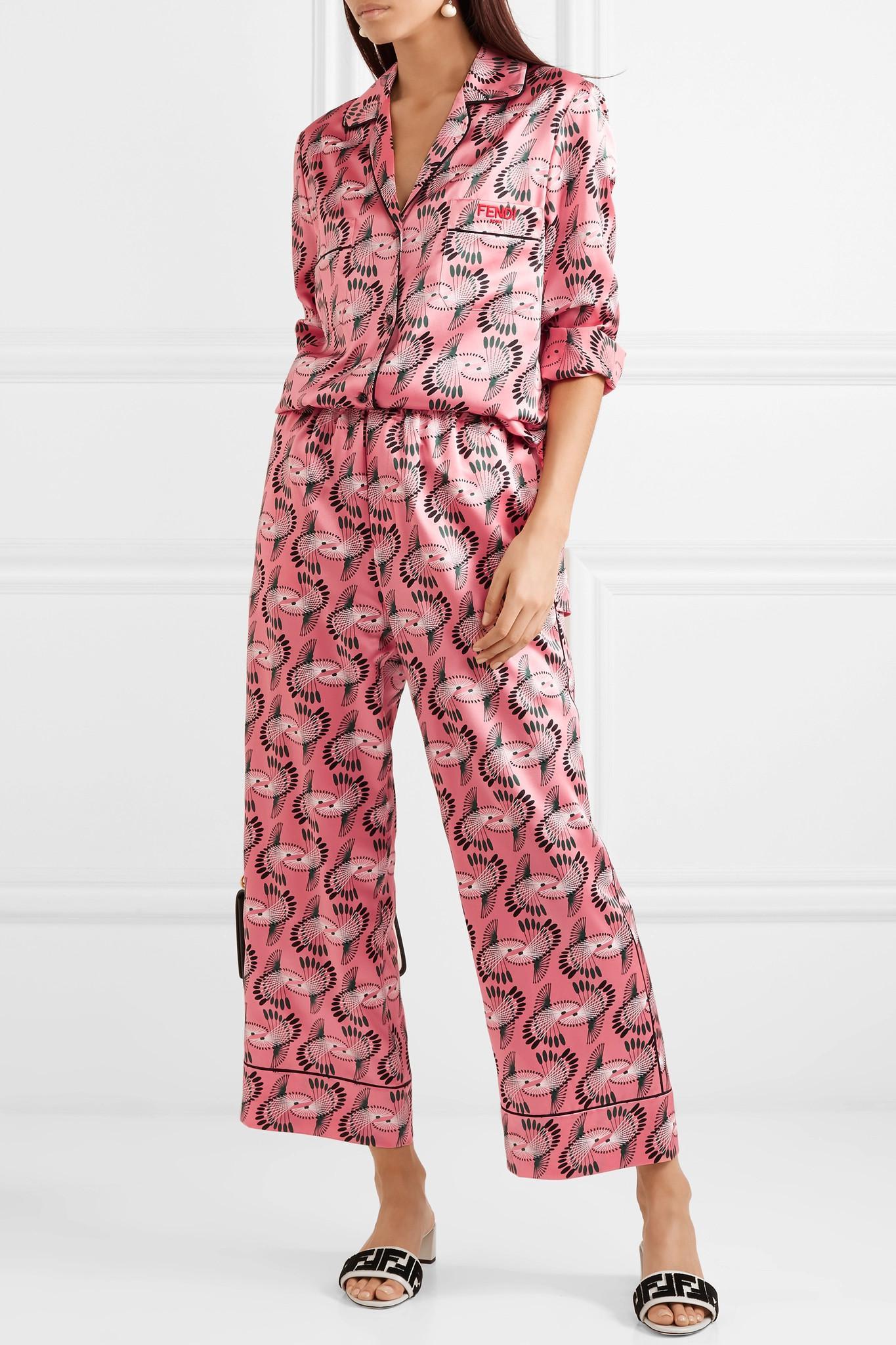 14cff4bb4 fendi-pink-Printed-Silk-satin-Wide-leg-Pants.jpeg