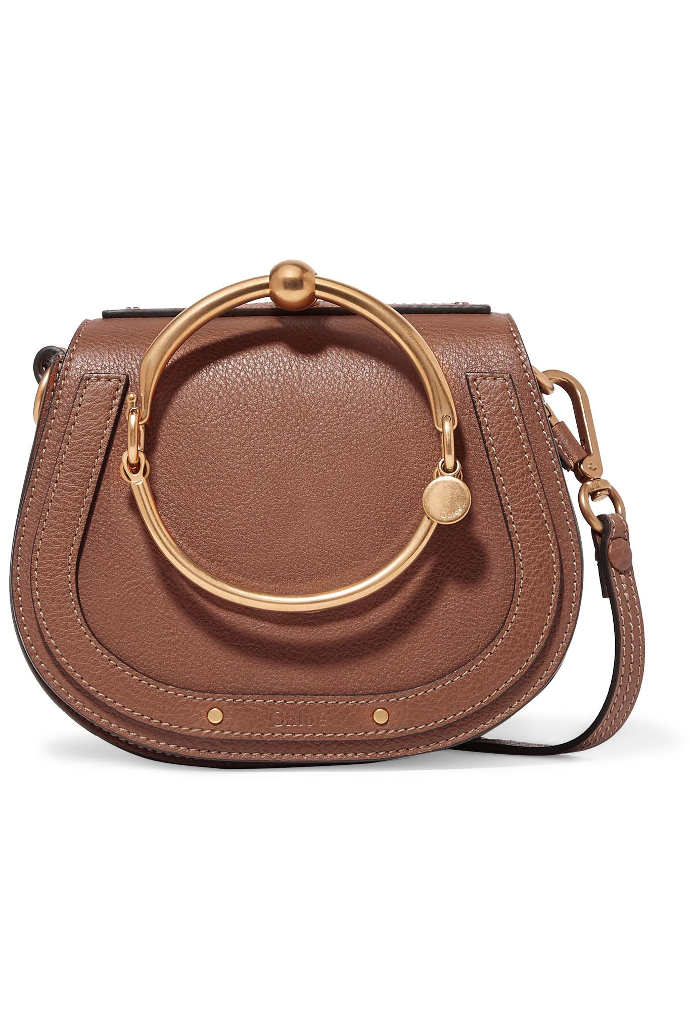 9bf6895d08 Chloé. Women s Brown Nile Bracelet Small Textured-leather And Suede  Shoulder Bag