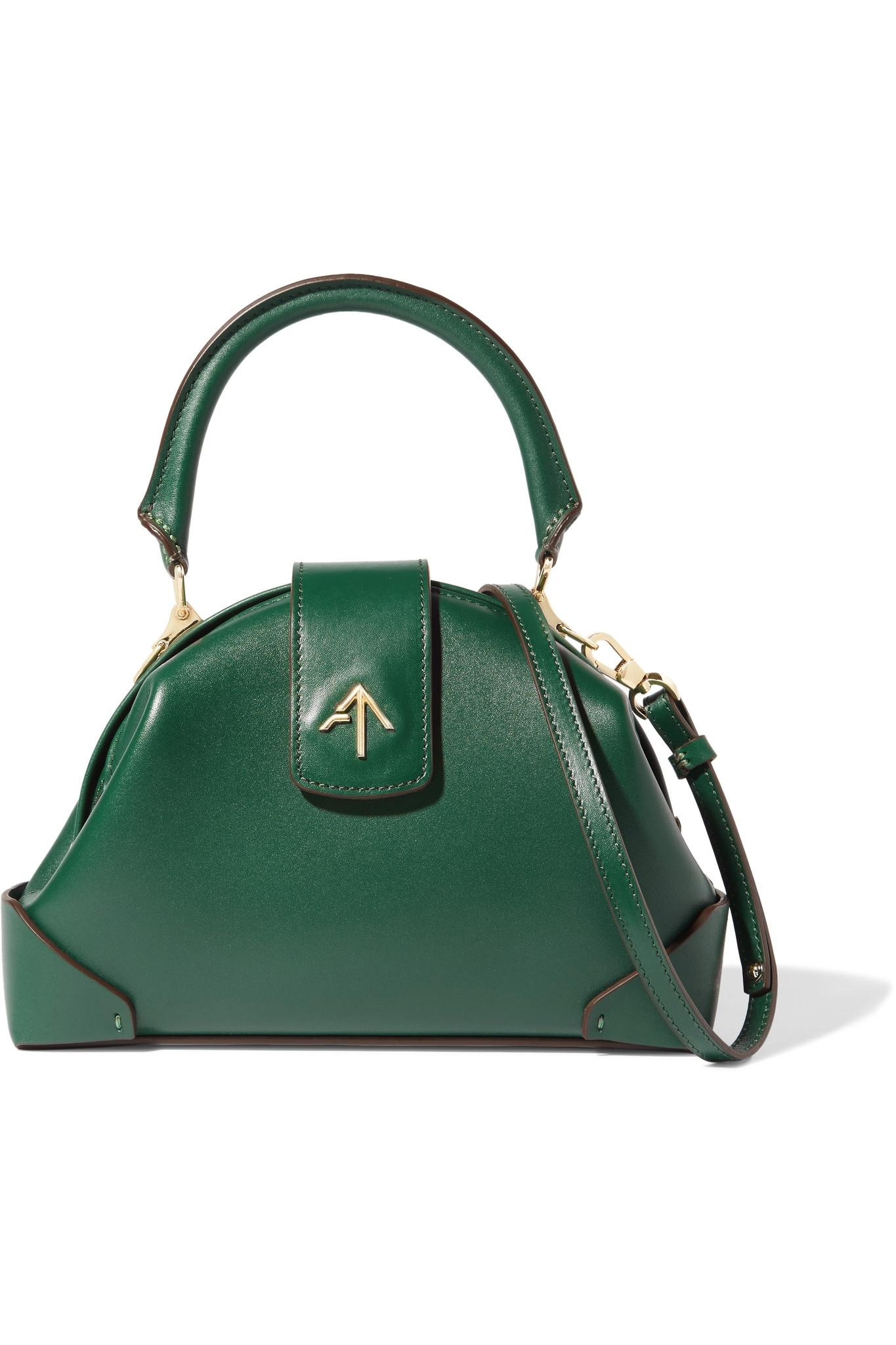 Manu Atelier demi linen and leather crossbody bag Discount Footlocker Finishline 3ymazsxtX