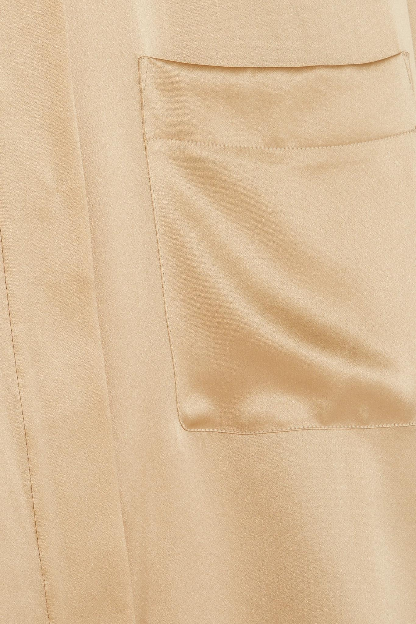 Haider Ackermann Camisa charmeuse y de seda extragrande beige wxFU7Xqf6F