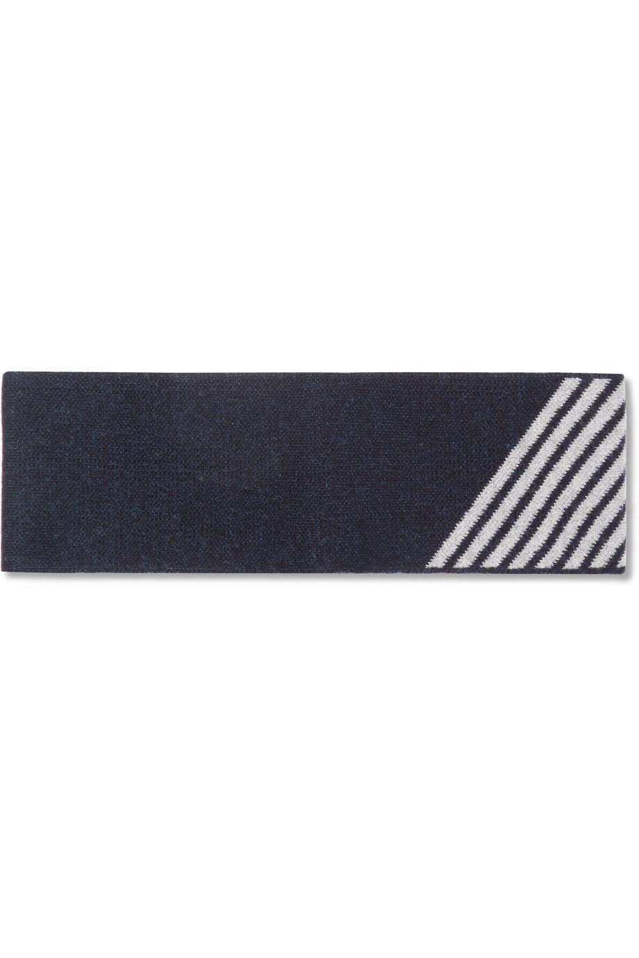 Tubular striped wool-blend headband LNDR xypS3D