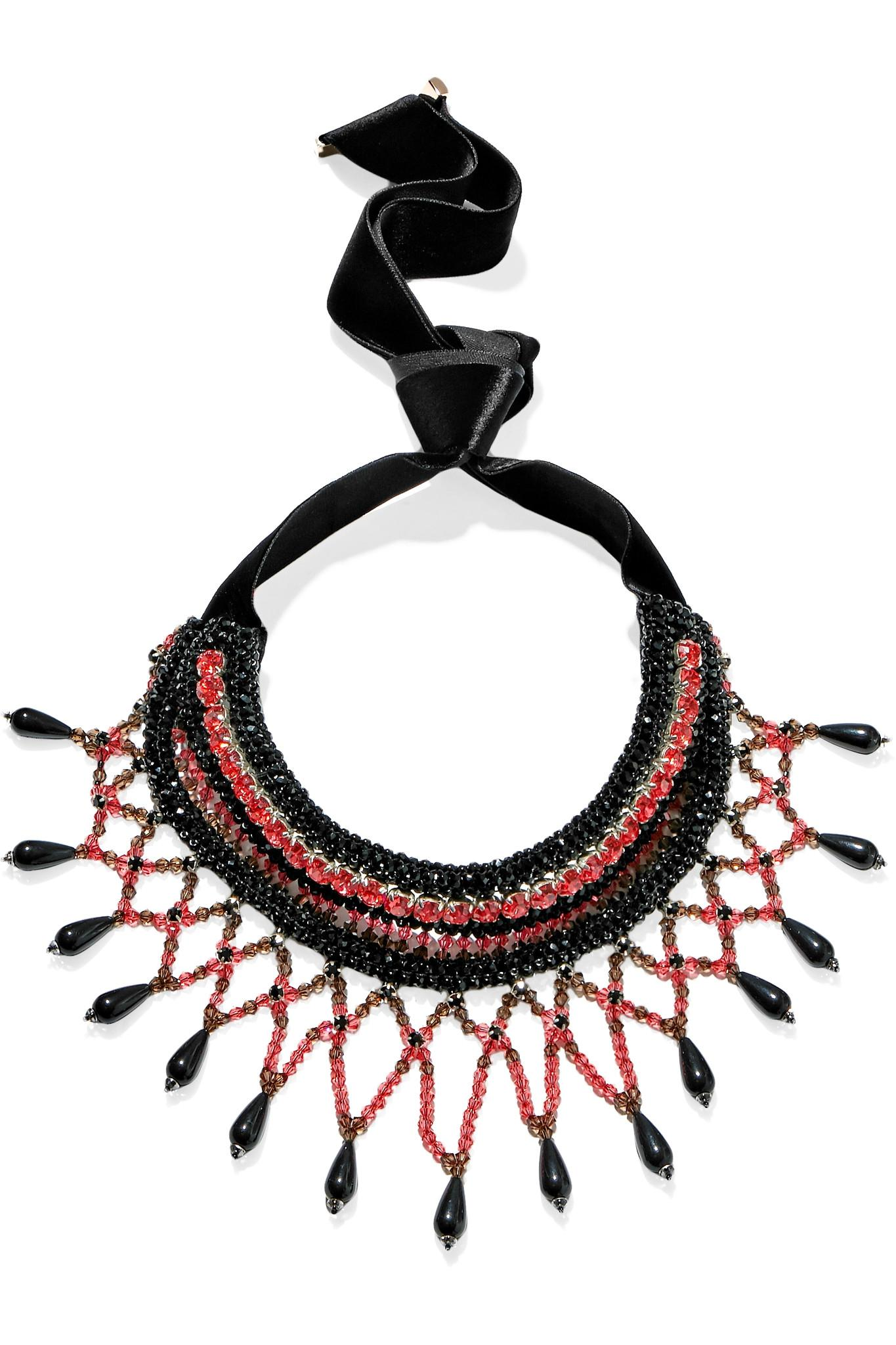 Crystal And Bead Necklace - Black Etro k1D1eNX