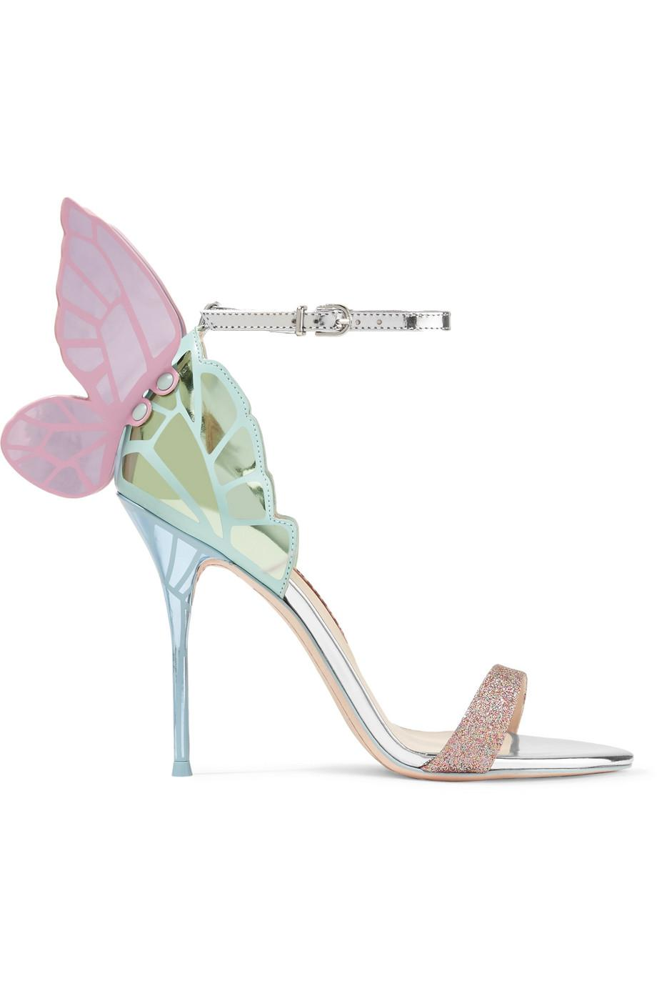 Chiara Embroidered Satin And Metallic Leather Sandals - Silver Sophia Webster Outlet Very Cheap Outlet Store Locations Cheap Sale Exclusive Cheap Classic Authentic Online cqdFB9K50