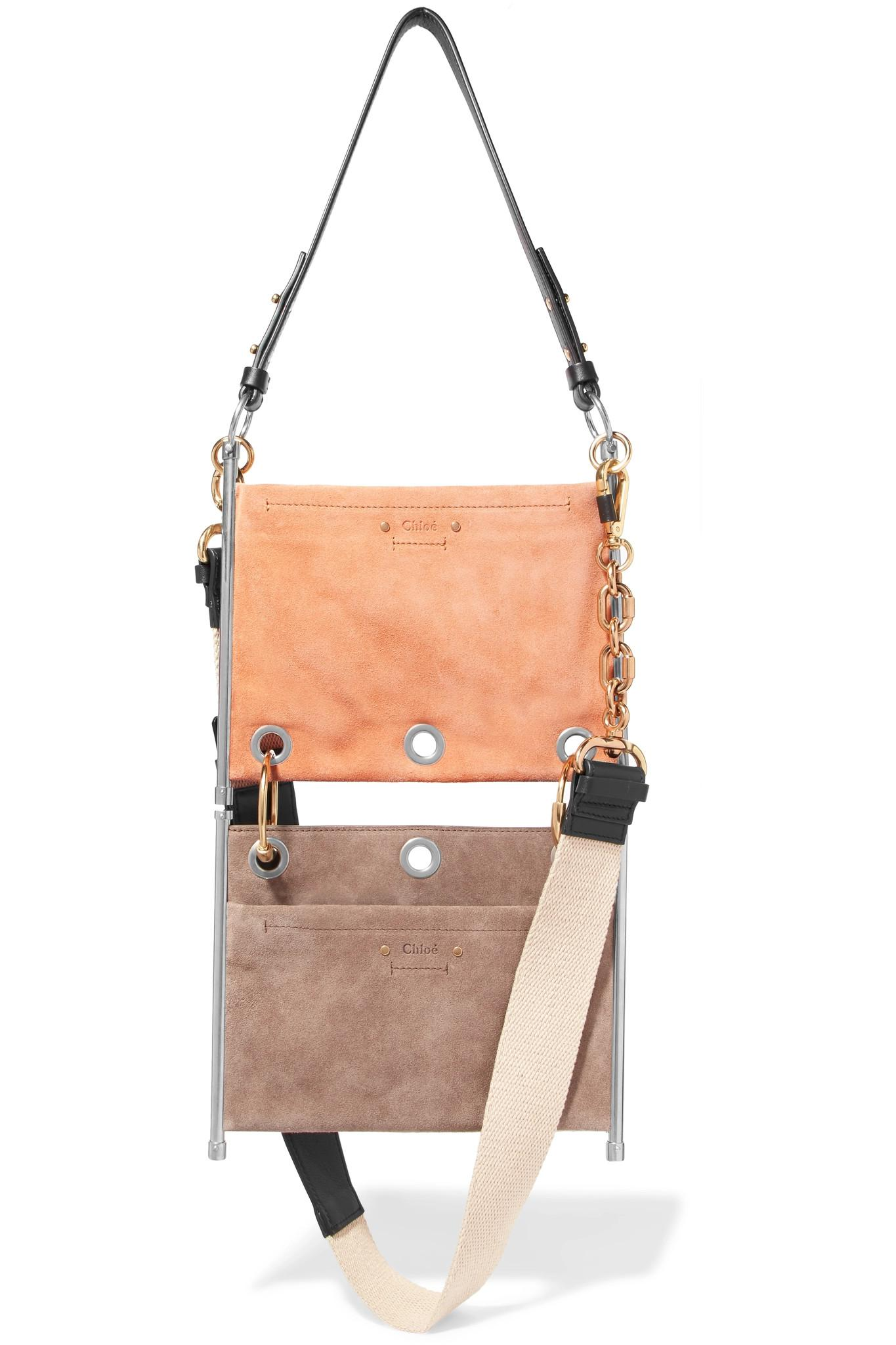 0ac6cd67b89d Chloé - Multicolor Roy Convertible Two-tone Suede And Leather Shoulder Bag  - Lyst. View fullscreen