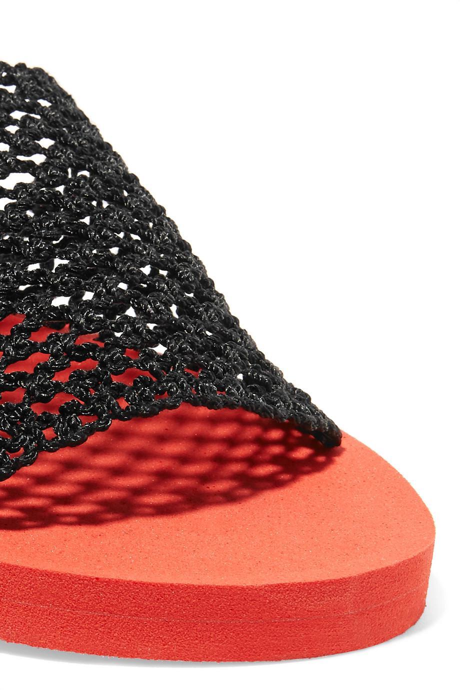 Ganni Liva Crocheted Slides Discount High Quality YtoCv