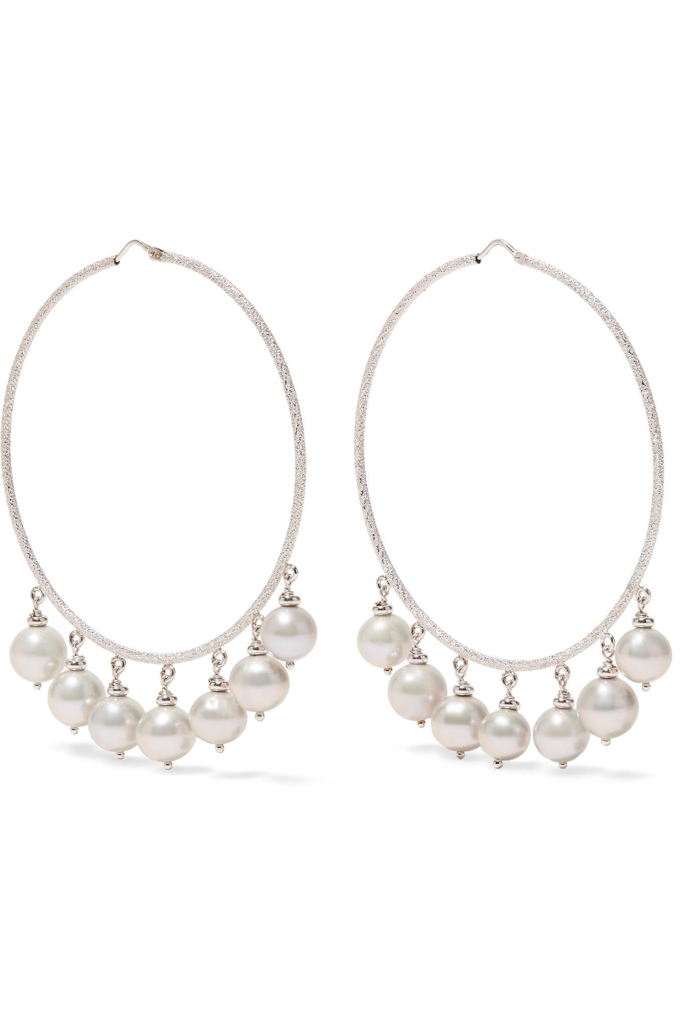 Carolina Bucci Woman 18-karat White Gold And Cord Earrings Gold Size ONESIZE Carolina Bucci dPMSpv