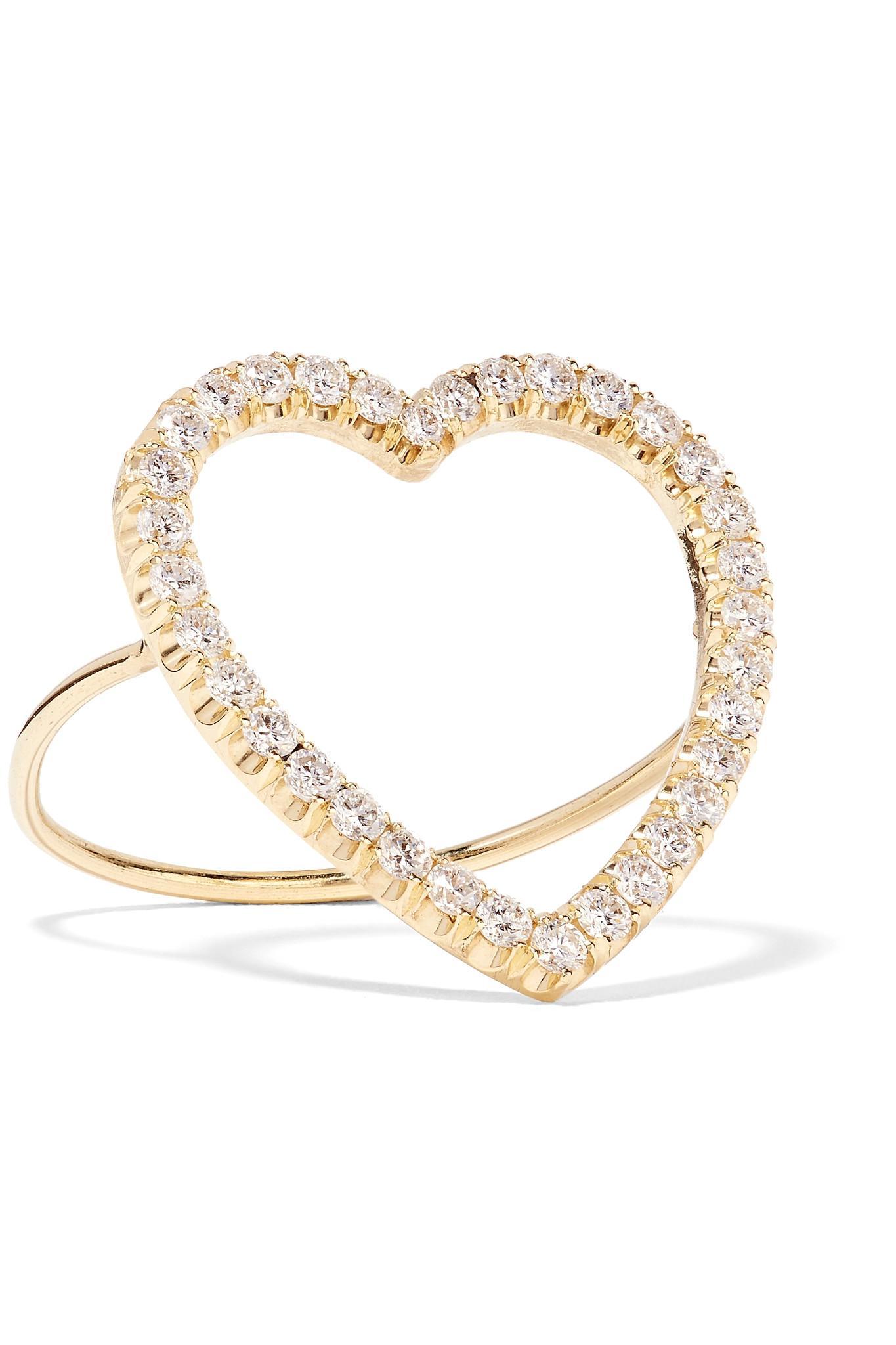 Heart 18-karat Gold, Opal And Diamond Ring - 6 Jennifer Meyer