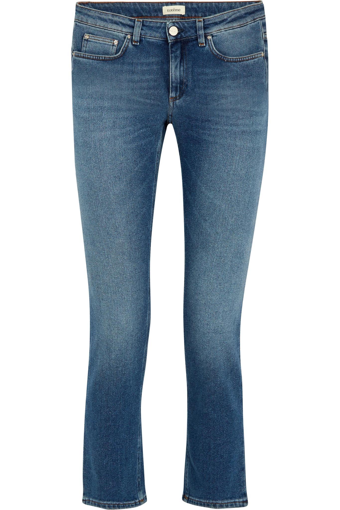 5f3ff8f78badf Lyst - Totême Cropped Mid-rise Straight-leg Jeans in Blue