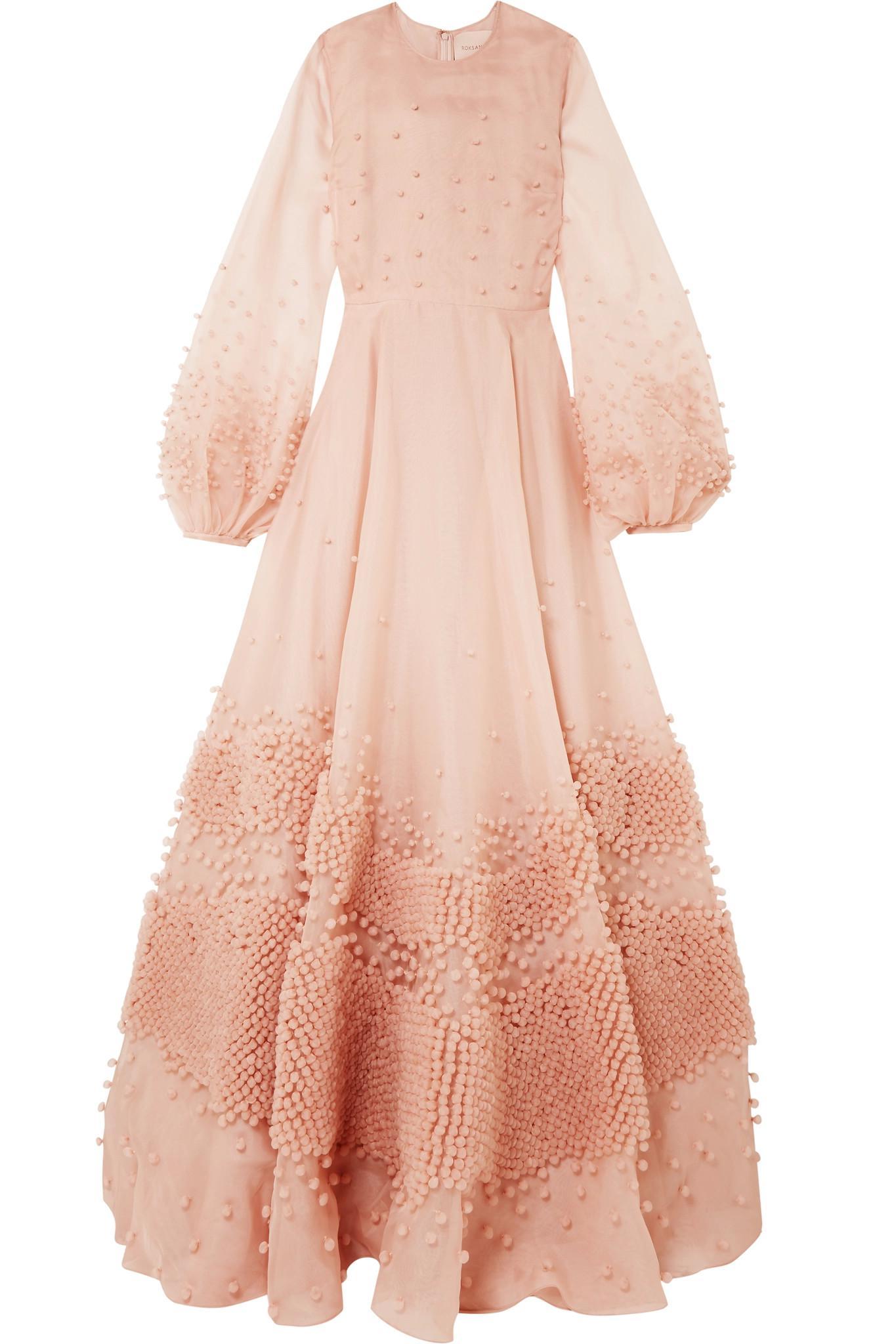 Viola Embellished Silk-organza Gown - Pastel pink Roksanda Ilincic iZBJdVya