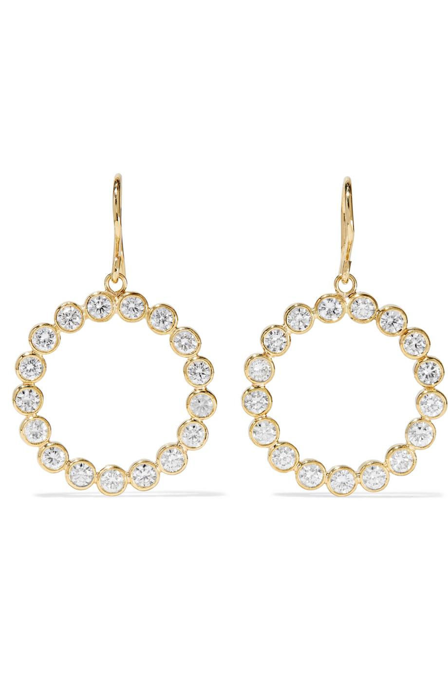 Jennifer Meyer Open Circle 18-karat Gold Diamond Earrings Xgmwp