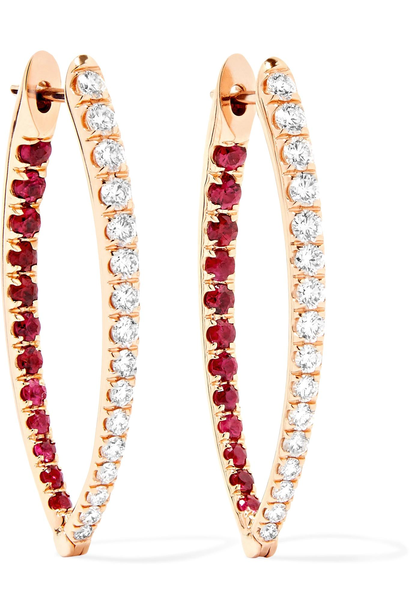 Melissa Kaye Mila 18-karat Gold Diamond Earring wHZXg