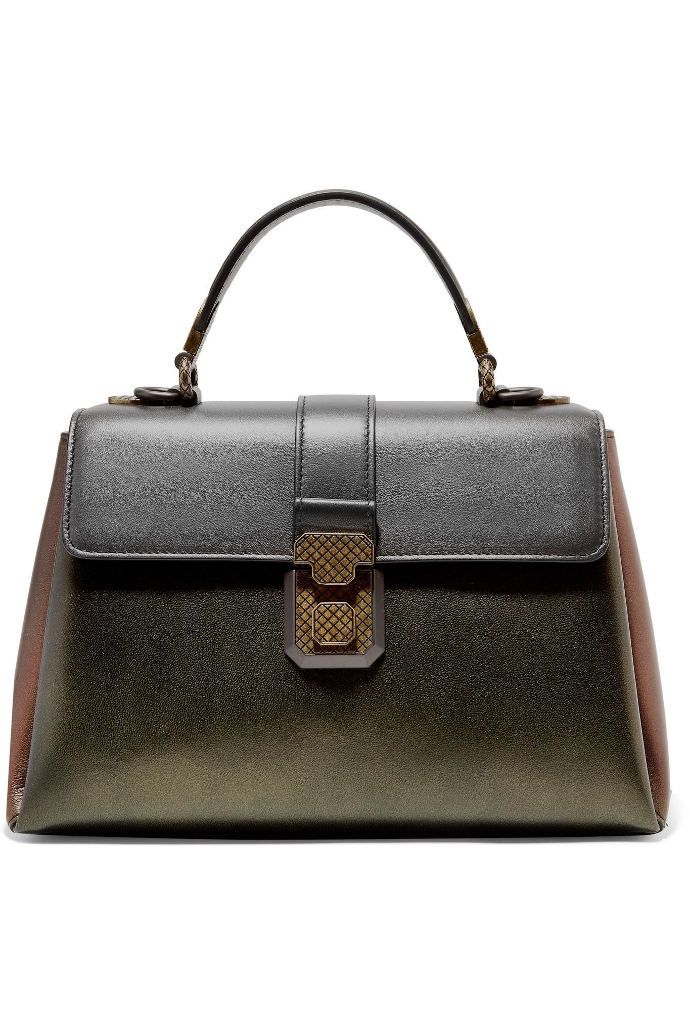 Piazza Large Color-block Leather Tote - Gray Bottega Veneta kp0MlU